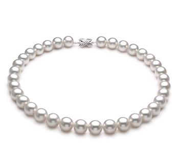 Halskette mit weißen, 12-13mm großen Südseeperlen in AAA-Qualität , Emmea