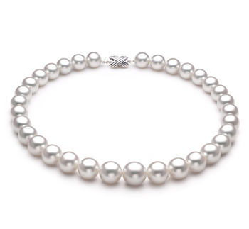 Halskette mit weißen, 12-15mm großen Südseeperlen in AAA-Qualität , Emmeline