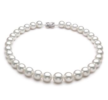 Halskette mit weißen, 12-16mm großen Südseeperlen in AAA-Qualität , Enja