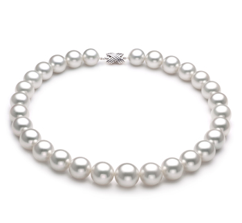 14-17mm AAA-Qualität Südsee Perlenhalskette in Farina Weiß