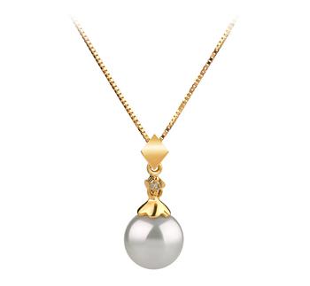 Anhänger mit weißen, 7-8mm großen Janischen Akoya Perlen in AAA-Qualität , Gloria