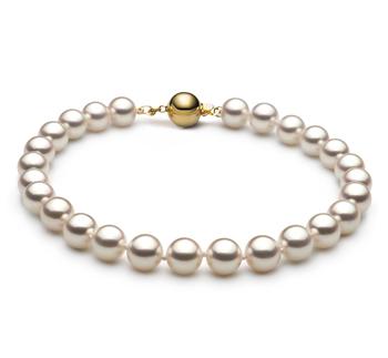 Armreifen mit weißen, 6.5-7mm großen Janischen Akoya Perlen in Hanadama - AAAA-Qualität