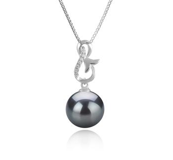 9-10mm AAA-Qualität Tahitisch Perlenanhänger in Hazel Schwarz