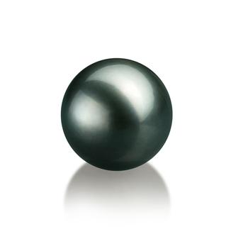 Einzelstück mit schwarzen, 12-13mm großen Tihitianischen Perlen in AA-Qualität