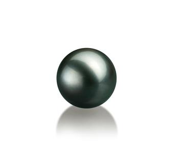 Einzelstück mit schwarzen, 8-9mm großen Tihitianischen Perlen in AAA-Qualität