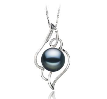 12-13mm AA-Qualität Süßwasser Perlenanhänger in Isabella Schwarz