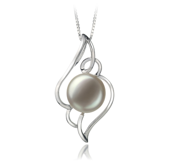 12-13mm AA-Qualität Süßwasser Perlenanhänger in Isabella Weiß
