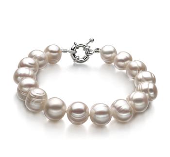 PearlsOnly - Armreifen mit weißen, 10-11mm großen Süßwasserperlen in A-Qualität , Jenna