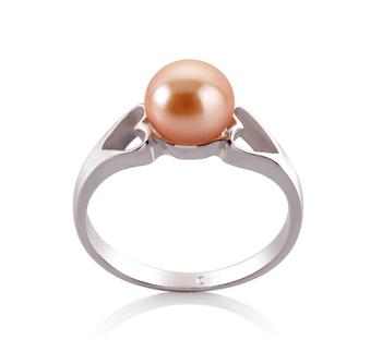PearlsOnly - Ring mit rosafarbenen, 6-7mm großen Süßwasserperlen in AA-Qualität , Jessica