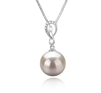 10-11mm AAAA-Qualität Süßwasser Perlenanhänger in Lena Weiß