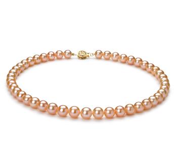 PearlsOnly - Halskette mit rosafarbenen, 8-8.5mm großen Süßwasserperlen in AAA-Qualität , Lenia