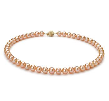 PearlsOnly - Halskette mit rosafarbenen, 7-8mm großen Süßwasserperlen in AAA-Qualität , Maje