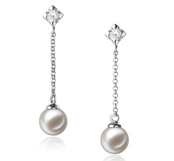Paar Ohrringe mit weißen, 6-7mm großen Süßwasserperlen in AAAA-Qualität , Maren