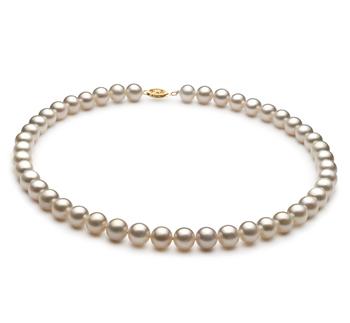 PearlsOnly - Halskette mit weißen, 8.5-9mm großen Süßwasserperlen in AA-Qualität , Milda