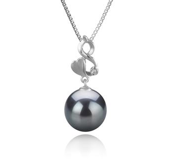 10-11mm AAA-Qualität Tahitisch Perlenanhänger in Niamh Schwarz
