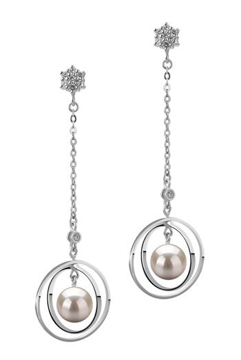 Paar Ohrringe mit weißen, 6-7mm großen Janischen Akoya Perlen in AA-Qualität , Paula