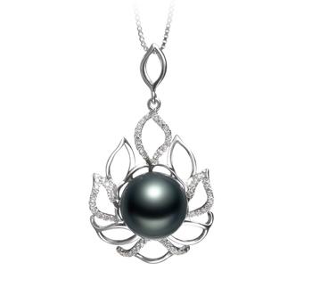 12-13mm AAA-Qualität Tahitisch Perlenanhänger in CALIDA Schwarz