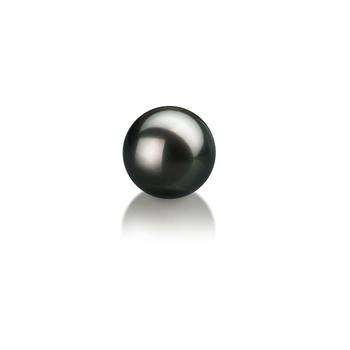 Einzelstück mit schwarzen, 6-7mm großen Janischen Akoya Perlen in AA-Qualität