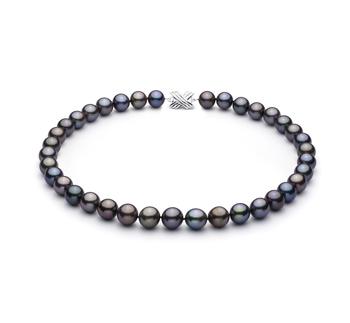Halskette mit mehrfarbigen, 11.07-12.9mm großen Tihitianischen Perlen in AAA-Qualität