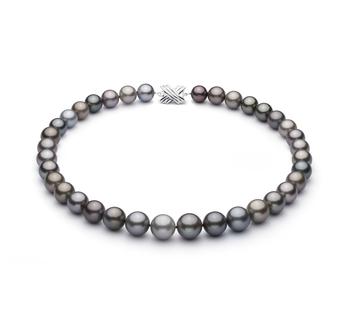 Halskette mit mehrfarbigen, 11-14.6mm großen Tihitianischen Perlen in AAA-Qualität