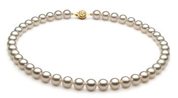 8-8.5mm AAA-Qualität Japanische Akoya Perlenhalskette in Weiß