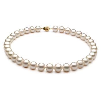 10-11mm AA-Qualität Süßwasser Perlenhalskette in Weiß