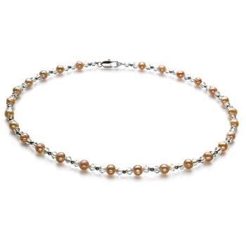 Halskette mit rosafarbenen, 6-7mm großen Süßwasserperlen in A-Qualität , Pia