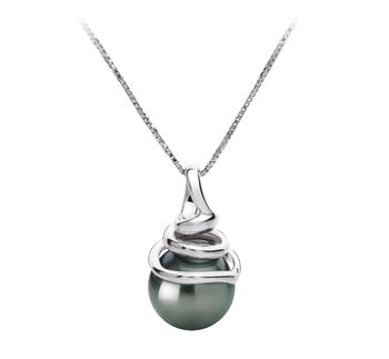 PearlsOnly - Anhänger mit schwarzen, 8-9mm großen Tihitianischen Perlen in AAA-Qualität , Sarah
