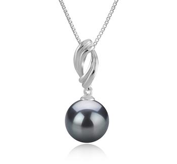 Anhänger mit schwarzen, 9-10mm großen Tihitianischen Perlen in AAA-Qualität , Shamara