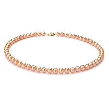PearlsOnly - Halskette mit rosafarbenen, 6-7mm großen Süßwasserperlen in AA-Qualität , Sylvana