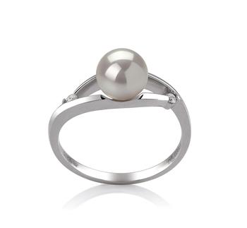 6-7mm AA-Qualität Japanische Akoya Perlenringe in Tanja Weiß