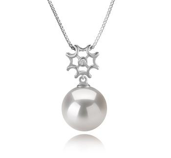 11-12mm AA+-Qualität Süßwasser - Edison Perlenanhänger in Tatiana Weiß