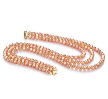 PearlsOnly - Halskette mit rosafarbenen, 6-7mm großen Süßwasserperlen in AA-Qualität , Verena