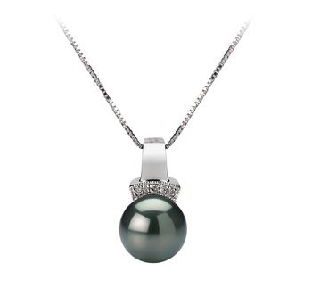 PearlsOnly - Anhänger mit schwarzen, 8-9mm großen Tihitianischen Perlen in AAA-Qualität , Viviane