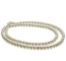 Halskette mit weißen, 6-7mm großen Süßwasserperlen in AA-Qualität , 30 inches