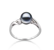 PearlsOnly - Ring mit schwarzen, 6-7mm großen Süßwasserperlen in AAAA-Qualität , Andrea