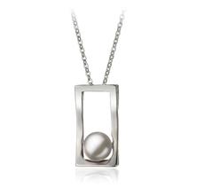 7-8mm AA-Qualität Süßwasser Perlenanhänger in Antonia Weiß