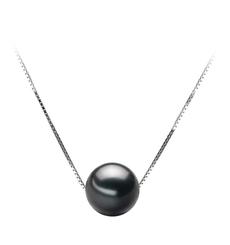 PearlsOnly - Anhänger mit schwarzen, 9-10mm großen Tihitianischen Perlen in AA-Qualität , Christina