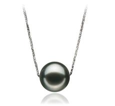 12-13mm AA-Qualität Tahitisch Perlenanhänger in Christina Schwarz