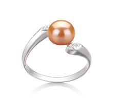 Ring mit rosafarbenen, 6-7mm großen Süßwasserperlen in AAA-Qualität , Dana