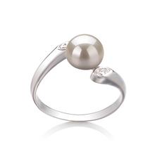 6-7mm AAA-Qualität Süßwasser Perlenringe in Dana Weiß