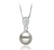 PearlsOnly - Anhänger mit weißen, 7-8mm großen Janischen Akoya Perlen in AA-Qualität , Denise