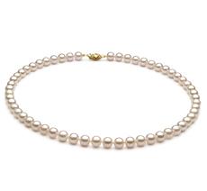 PearlsOnly - Halskette mit weißen, 6-7mm großen Chinesischen Akoya Perlen in AA+-Qualität , Gabriella