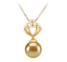 12-13mm AAA-Qualität Südsee Perlenanhänger in Helena Gold