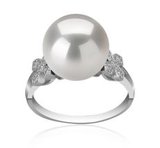 Ring mit weißen, 12-13mm großen Süßwasserperlen Edison in AA+-Qualität , Ireland