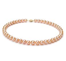 Halskette mit rosafarbenen, 8-9mm großen Süßwasserperlen in AA-Qualität , Jada