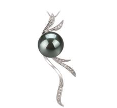 10-10.5mm AAA-Qualität Tahitisch Perlenanhänger in Janine Schwarz