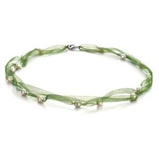 PearlsOnly - Halskette mit weißen, 5-6mm großen Süßwasserperlen in A-Qualität , Jasmin