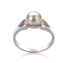 PearlsOnly - Ring mit weißen, 6-7mm großen Süßwasserperlen in AA-Qualität , Jessica