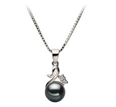 PearlsOnly - Anhänger mit schwarzen, 6-7mm großen Janischen Akoya Perlen in AA-Qualität , Johanna